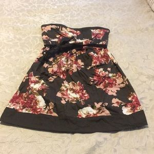 Brown floral maternity sundress